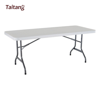 Pied De Table Pliant.Populaire En Plastique Pliant Rectangle Banc 8 Pied Pliant Table Pour Manger En Plein Air En Utilisant Buy Table Pliante De 8 Pieds Table De Banc