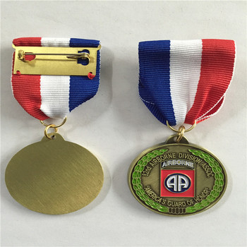 Honor Award Maker Commemorative Custom Sublimation zinc alloy Enamel Metal Medal