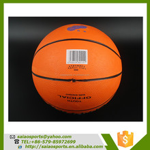 Custom logo printed rubber size 7 balls basketball colorful promotional rubber basketball