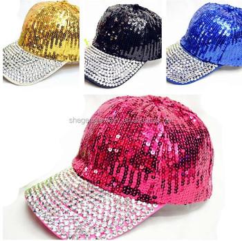 60194c25d40 Crystal Case Women s Sequin Rhinestone Studded Baseball Cap - Buy On ...