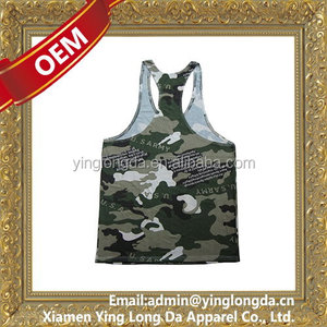 Top level crazy Selling printed or embroidery golds gym singlet