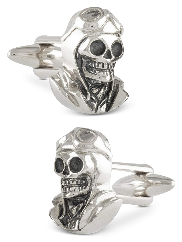 ZAUNICK Pilot Skull Cufflinks Cufflinks Sterling Silver