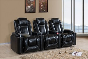 Genuine leather home furniture cinema seating chairs HT023