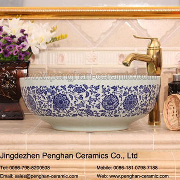 Jingdezhen Traditional Blue And White Bathroom Ceramic