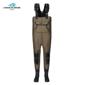 Good fishing chest rubber wader with neoprene