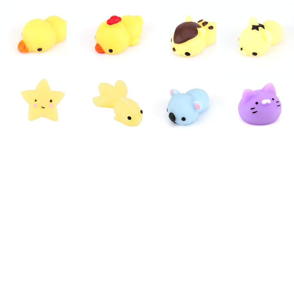 New Design Mini Animal Squishy Toy 3D Kawaii Animals Eco-friendly Soft Mochi Squeeze Squishy Cat Toys