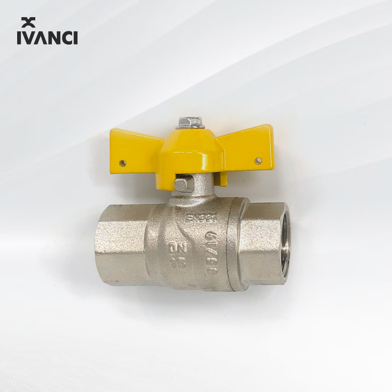 Ivanci EN331 1/2 Butterfly Handle Kuningan Gas Ball Valve