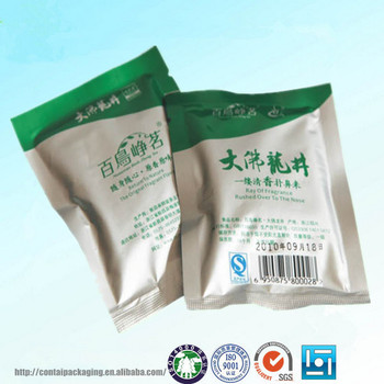 Stand Up Aluminum Foil Tea Pouch Bag Resealable Ziplock Foil Tea ...