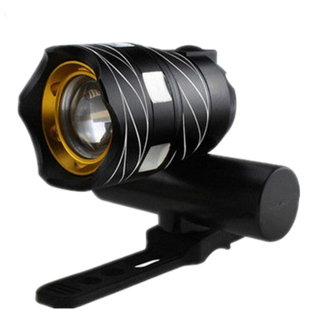 T6 LED Cycling Bike Bicycle Head Light Flashlight With 3 Modes Torch USB (black)