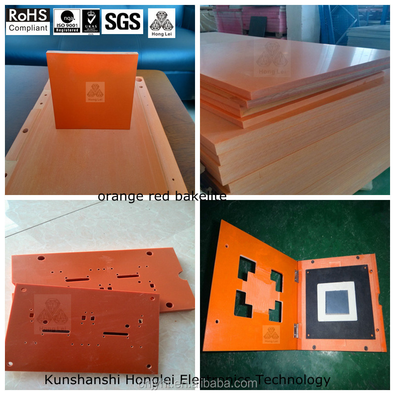 orange electronics insulation board phenolic paper/cotton cloth laminated sheet