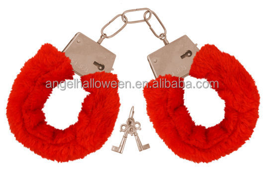 China Suppliers Red Wholesale Sex Toy handcuff metal plush handcuff furry handcuff SH4012