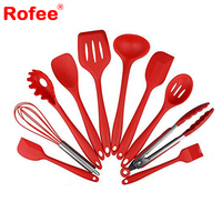 Silicone Heat Resistant Kitchen Cooking Utensil 10 Piece Cooking Set Non-Stick Kitchen Tools
