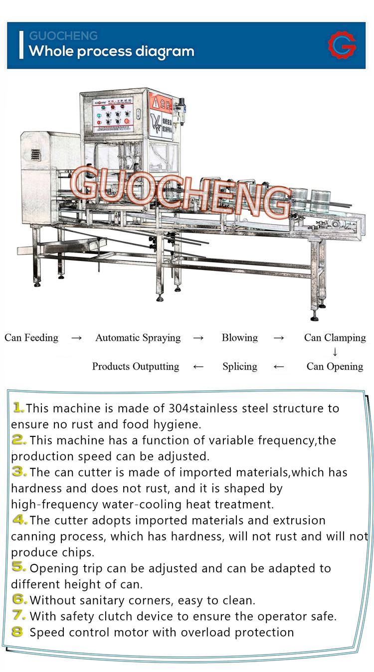 Sanayi otomatik paslanmaz çelik konserve teneke kapak açacağı makinesi
