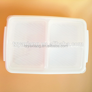Compartments Plastic Disposable Bento Lunch Box Plastic tray