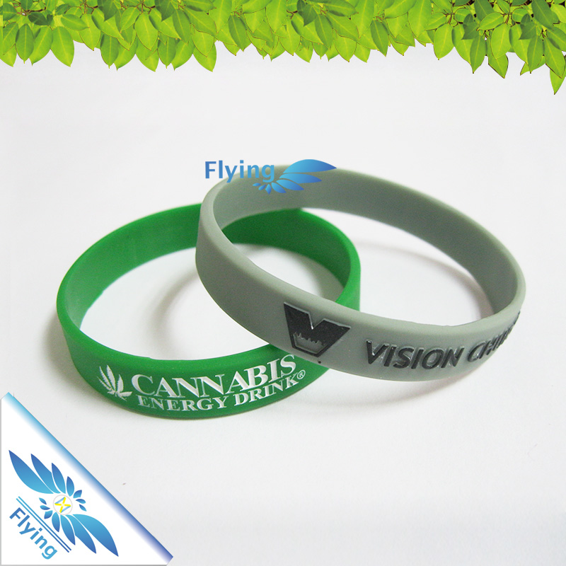 Lovely Silicone Bracelet Promotion Bangle Rubber Types for Kids Size