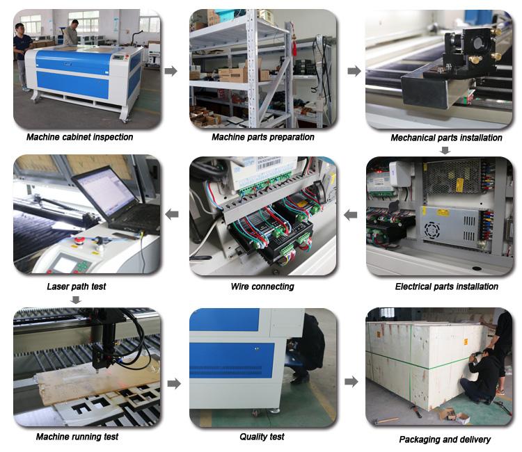 High Quality 60w 80w 100w Co2 Wool Felt Laser Cutting