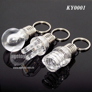 3D Bulb Shaped Latest Acrylic LED Bulb Keychain