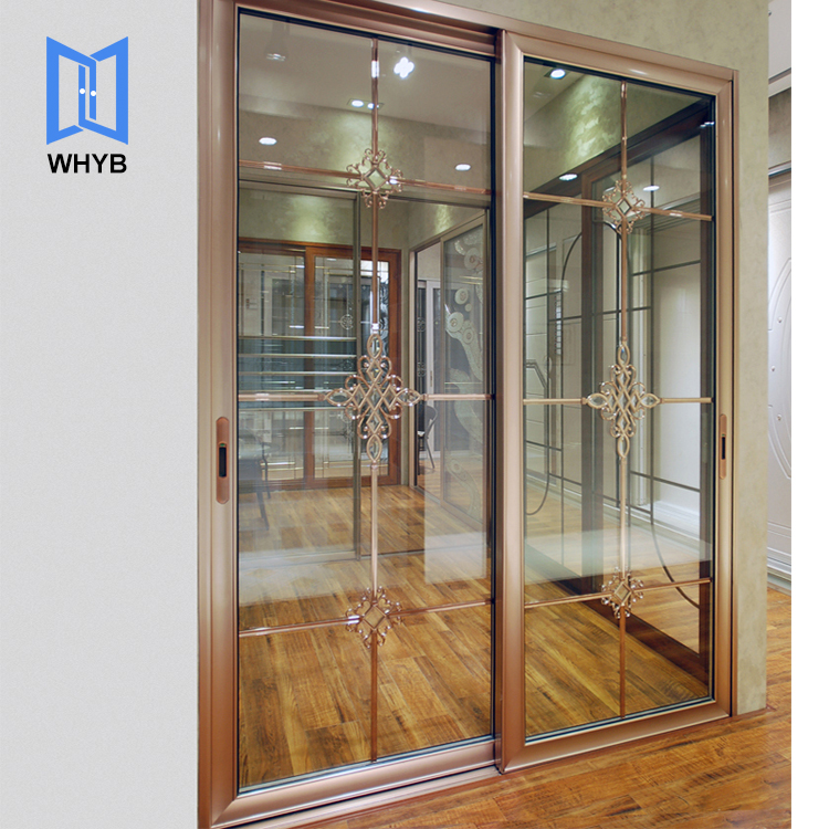 PVC/UPVC series frosted glass toilet/bathroom sliding doors