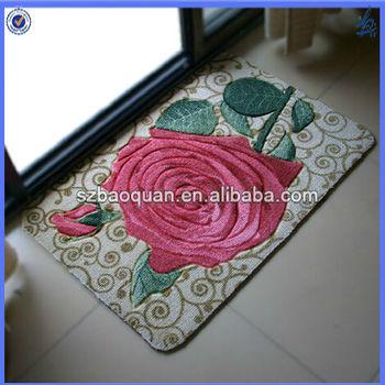 rubber waterproof backed kitchen floor mats/front door mats - buy