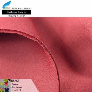 Polyester textile air layer scuba knit fabric