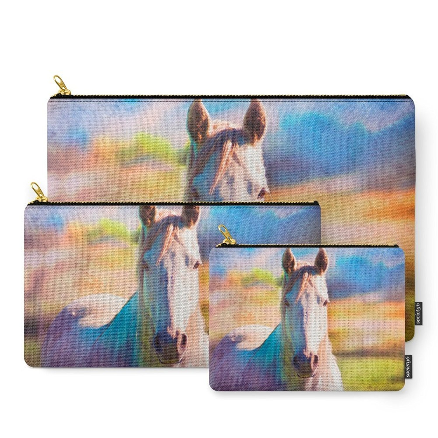 Society6 Colorful Horse Carry-All Pouch