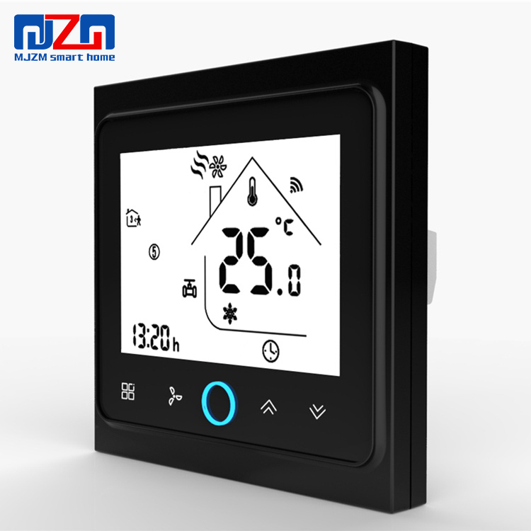 Maison intelligente Thermostat WiFi/Modbus/Normal D'écran Tactile Programmable Thermostat Ventilo-convecteur BAC-002 MJZM Marque