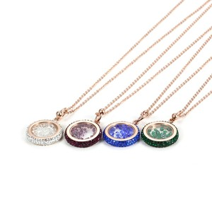 Color Crystal gravel new design necklaces