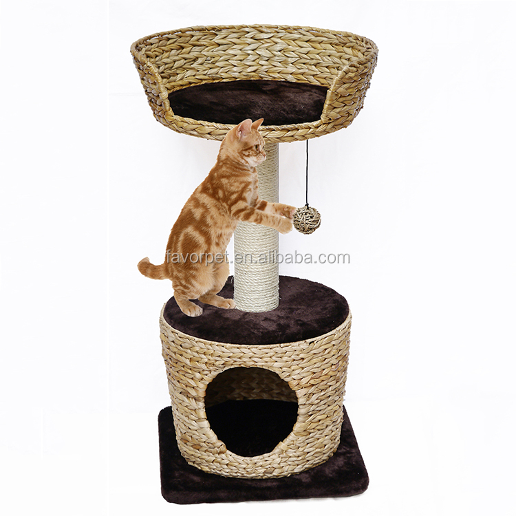 2017 Garden Furniture customized cat tree with cat toy
