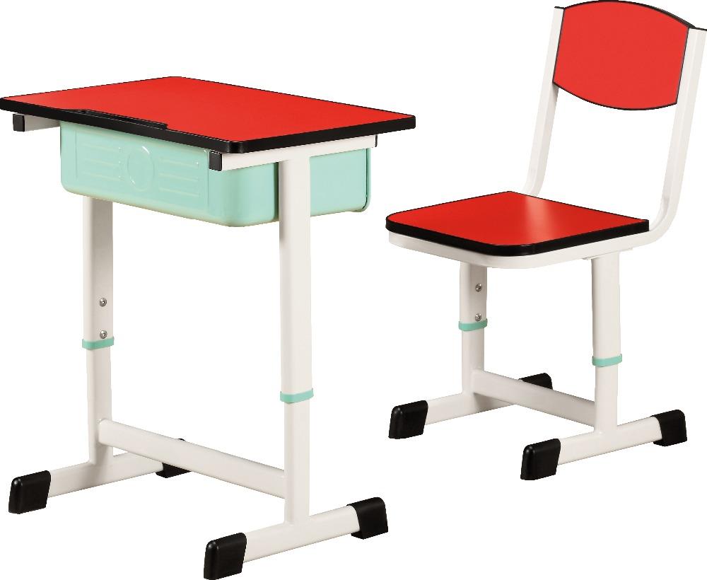 Kz s school student dubbele bureau en stoel houten gebruikt