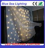Wedding decorations fireproof velvet led star curtain led star cloth