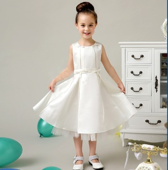 2b59fafeecf Pretty High Quality New Style Kids Wedding Party Dress Sleeveless Lace Flower  Girl Dress satin flower