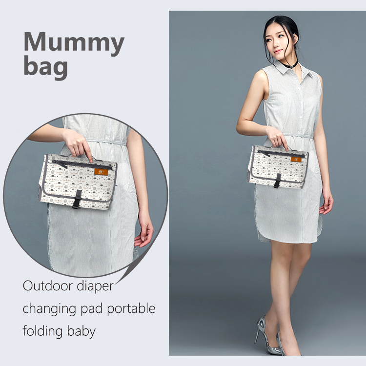 Baby portable travel diaper changing station wholesale diaper clutch bag