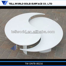2013 New Design and elegant artificial marble round coffee table