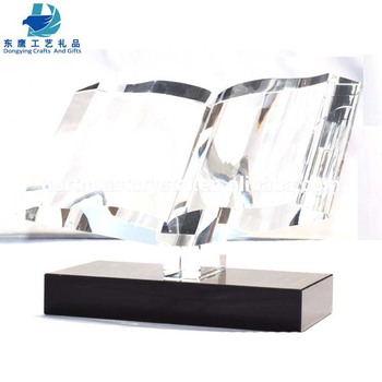 Factory Blank Clear Crystal Book Trophy