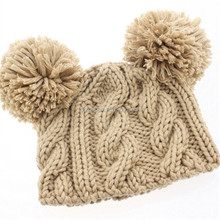 Pasgeboren Kabel <span class=keywords><strong>Baby</strong></span> pompom Bonnet