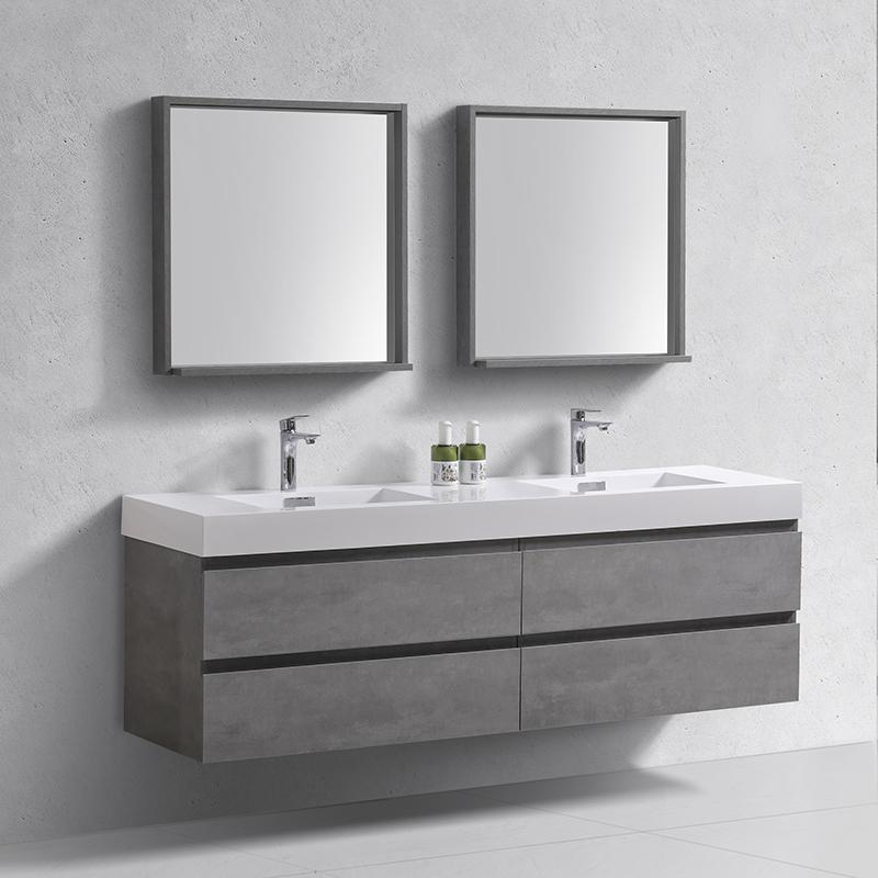 Modern 60 Inch Modern Moistureproof Single Sink Melamine Bathroom