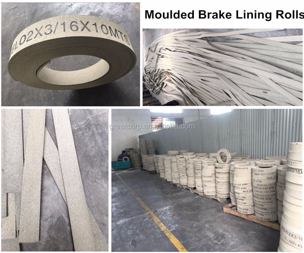 Rubber Brake Lining : High quality rubber moulded brake lining roll buy
