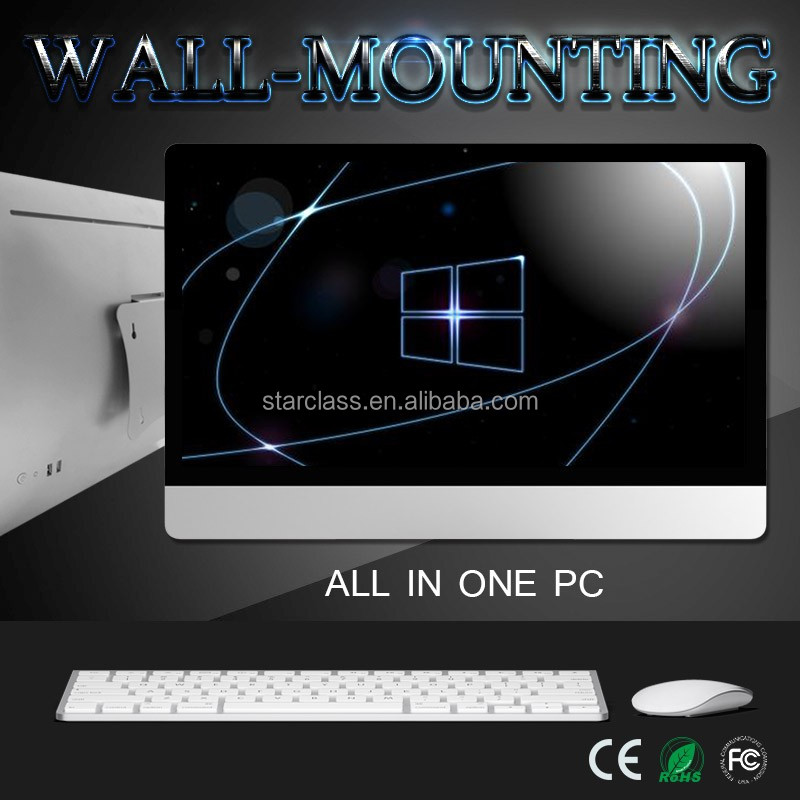 Excellent 27 inch monitor mac desktop 500GB HDD SATA digital TFT AIO pc with DDR3 8GB RAM for gaming cases