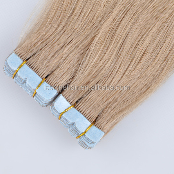 2015 New Style Top Grade Waterproof Double Drawn hair braiding supplies hand tied hair weft tape