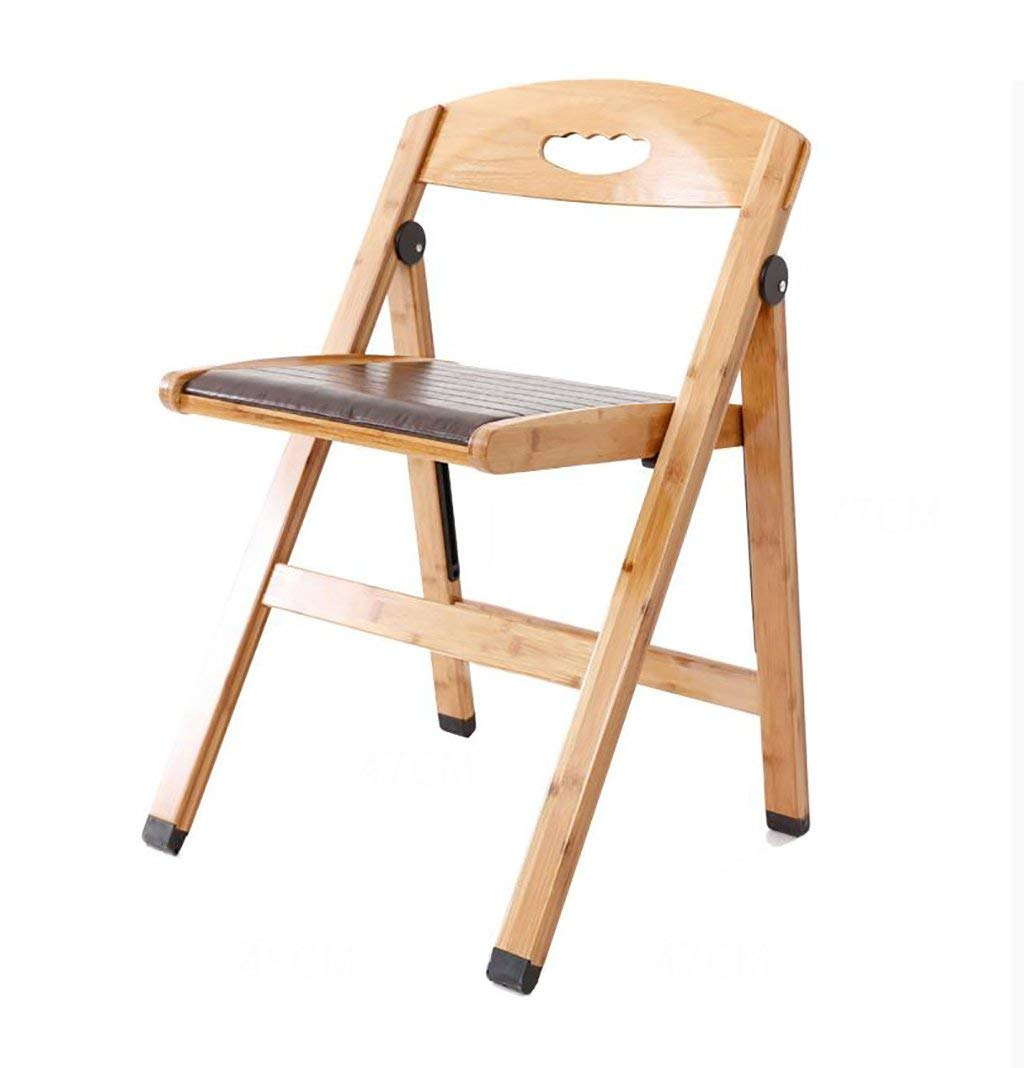 fold up chairs Modern minimalist folding casual chair home back with bamboo non - slip dining chair Folding Chairs