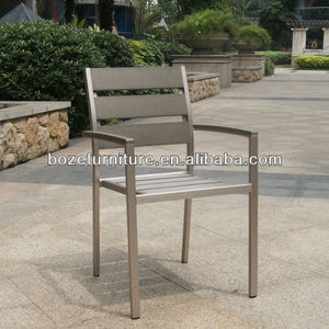 Garden outdoor furniture Brushed plastic wood / polywood chair