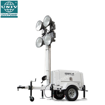 High Mast Portable Light Tower Trailer Generator With Hydraulic From Univ Odm Factory Lighting