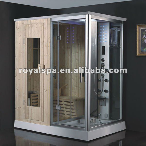 luxurious steam sauna shower combination