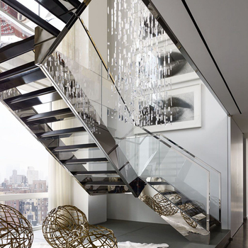 Luxury Steel Stringer Staircase Glass Stair For Duplex Apartment   Buy  Glass Stairs For Duplex,Glass Stairs With Light,Glass Stairs Wholesale  Product ...