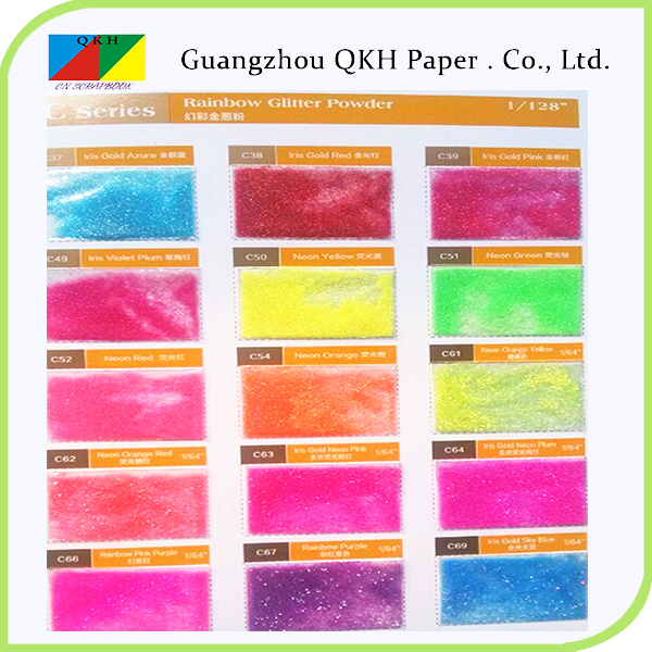 deep colors and fluorescent colors embossing glitter powder