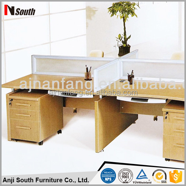 High quality office desk used for partitions 4 person workstation