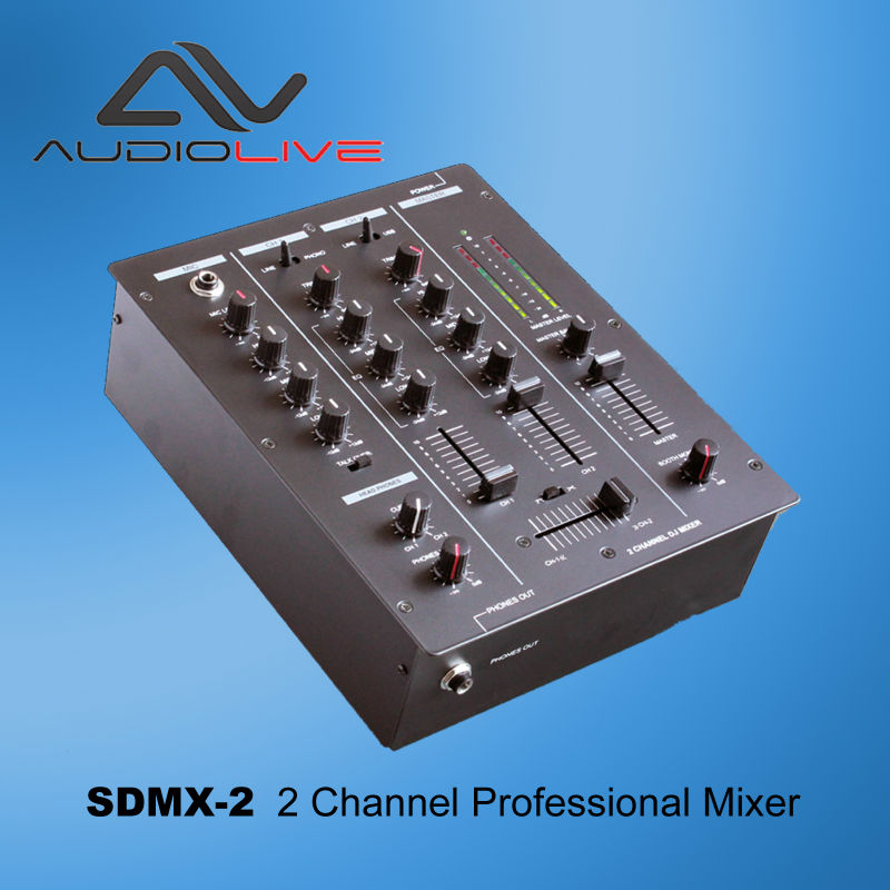 โรงงาน SDMX-2 2 Channel Audio Video DJ Mixer