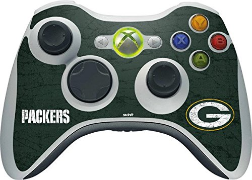 NFL Green Bay Packers Xbox 360 Wireless Controller Skin - Green Bay Packers Distressed Vinyl Decal Skin For Your Xbox 360 Wireless Controller