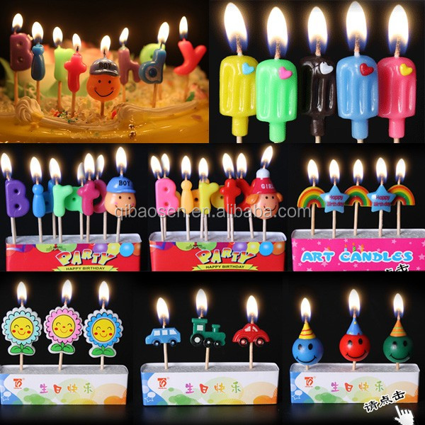 Candle Birthday Alphabet Letter Stickers
