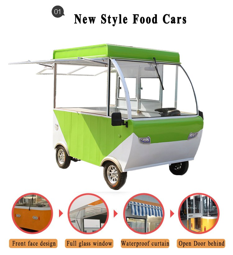 Lovely Mini Mobile Ice Cream Tricycle Coffee Car Used Food
